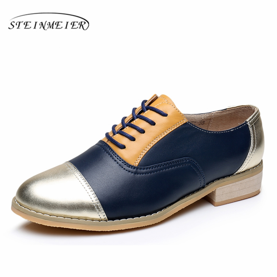 Women oxford shoes leather designer vintage flat shoes US size 10 handmade brown silver 2017 oxfords flats shoes for women fur women flats leather oxford shoes woman flat 9 5 vintage shoes brown point toe handmade 2017 oxfords shoes for women with fur