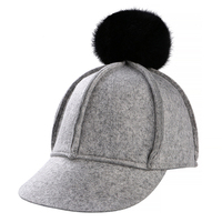 Korean Version Of Six Corner Stitching Retro Wool Hat Female Winter Heat Hair Baseball Cap Fashion