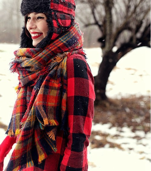 za same paragraph autumn and winter scarves colorful scarves big stars in Europe hit color plaid shawl