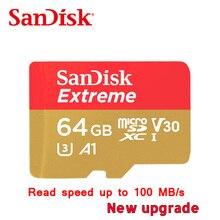 Бесплатная доставка карты памяти SanDisk Extreme MicroSD UHS-I microSDXC Class10 U3 90 МБ/с. 32 ГБ 64 ГБ TF карты Поддержка 4 К UHD