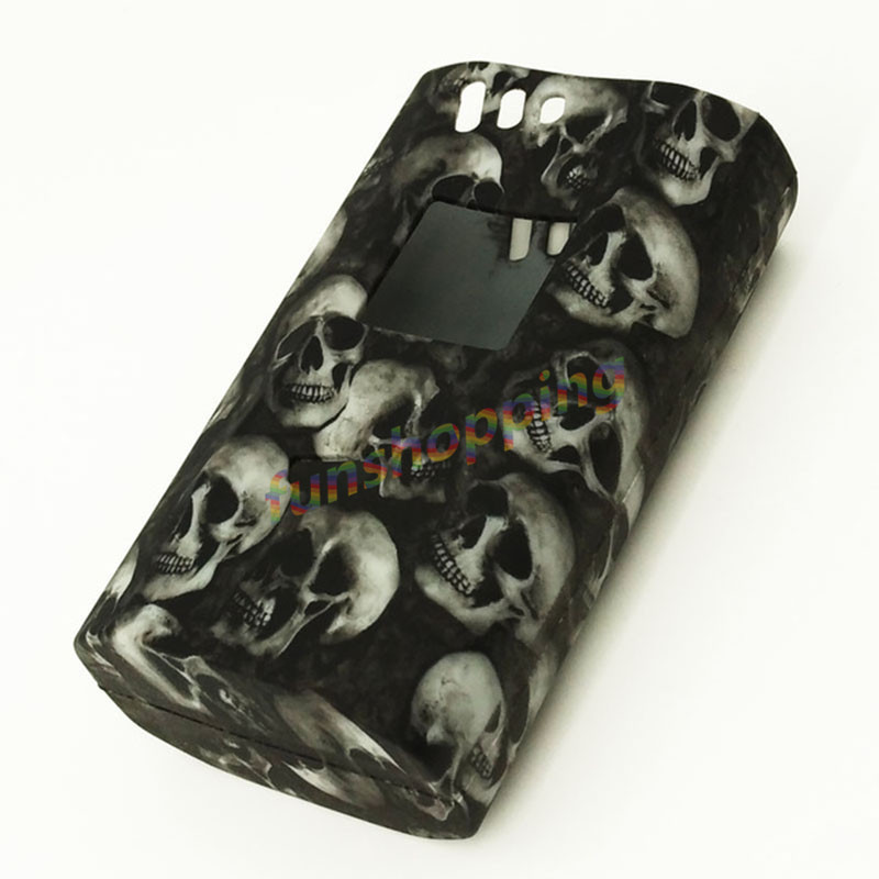 30 pièces Top qualité SMOK Alien 220 w boîte Mod coque en silicone Smok Alien kit 220 Cigarette électronique Mod peau couverture par couleur aléatoire
