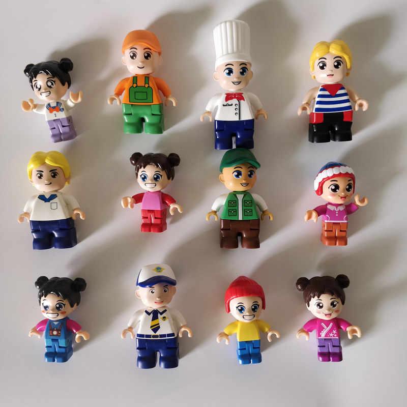 Figuras de acción de Capitán chica de la nave del estudiante de la cocina del cartero del trabajador de la familia de HQ tamaño grande juguete del chico del bloque de construcción