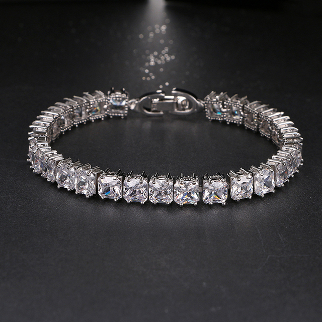 f4d0ffd38e58ac Luxury Design Classic AAA Cubic Zirconia Tennis Bracelets Bling Cuff  Bangles Women Jewelry Party Show Gifts Factory Direct B-014