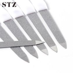 STZ 1pcs Nail Files Professional Stainless Steel Nail Buffers Durable Nail Sanding Grinding Buffers Manicure Nail Art Tool A31