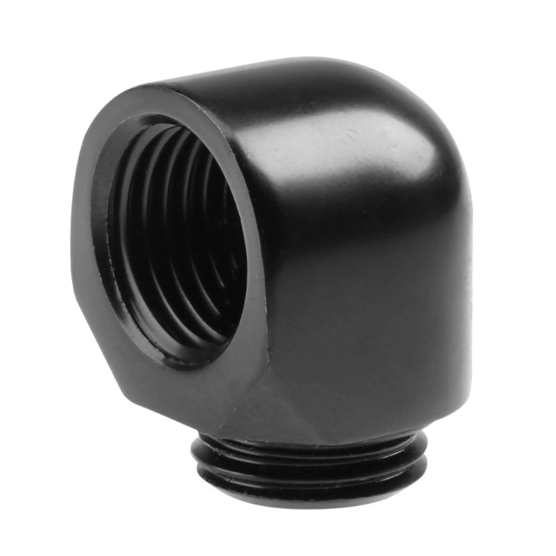 G1/4 Thread 90 Degree Elbow Adapter Tube Connector for PC Computer Water Cooling System Hose Water Tube Wholesale epman 2 5 3 63mm 76mm 4 ply silicone 90 degree elbow reducer hose black for bmw e39 android ep ss90r6376
