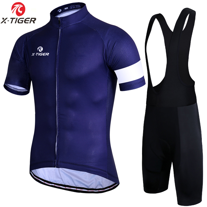 X-Tiger Minimalist 7 Colors Cycling Set Mountain Bicycle Clothing Maillot Ropa Ciclismo Racing Bike Clothes Cycling Jerseys
