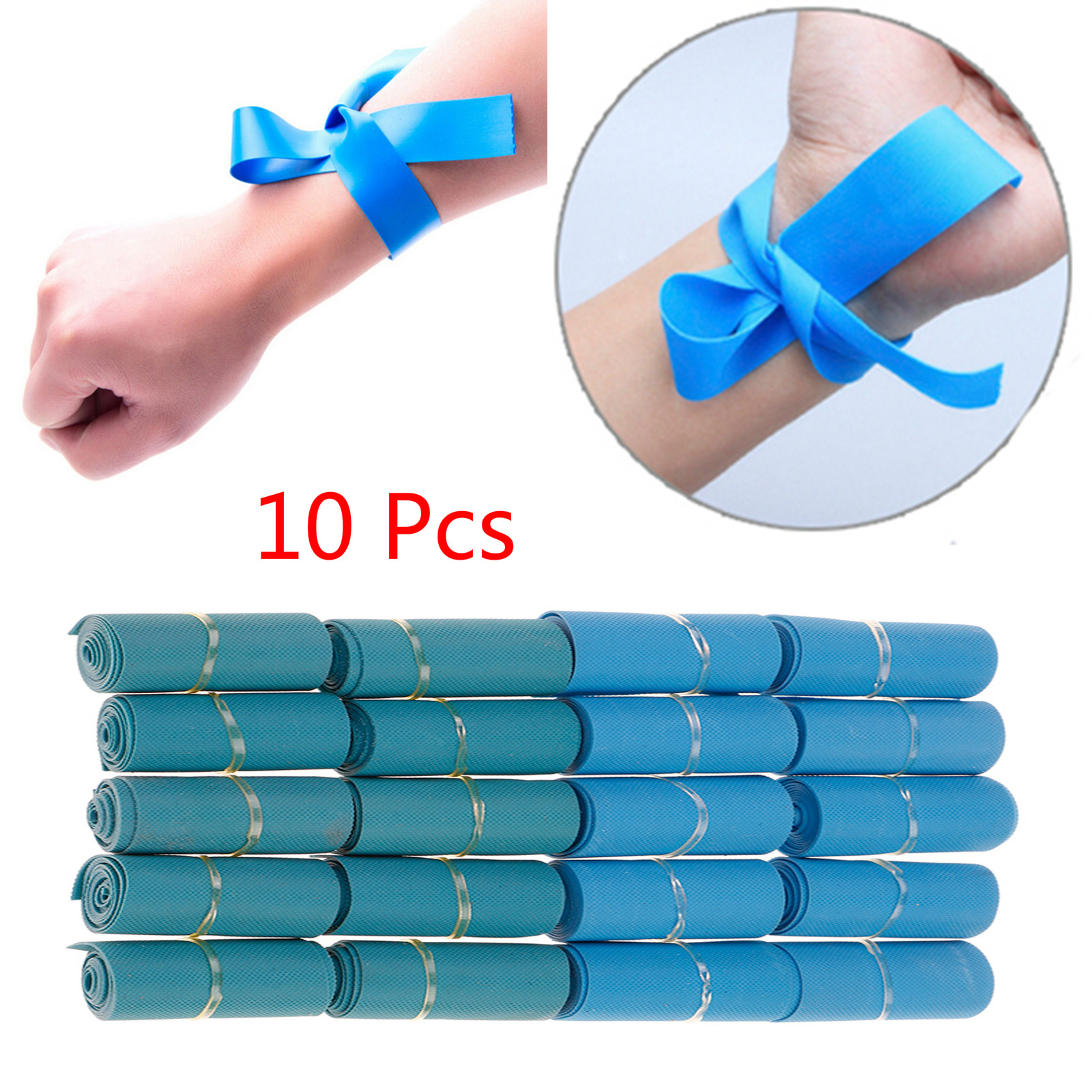 10pcs Outdoor Emergency Necessities First Aid Supplies First Aid Kit Latex Tourniquet Medical Emergency Tourniquet Tourniquet