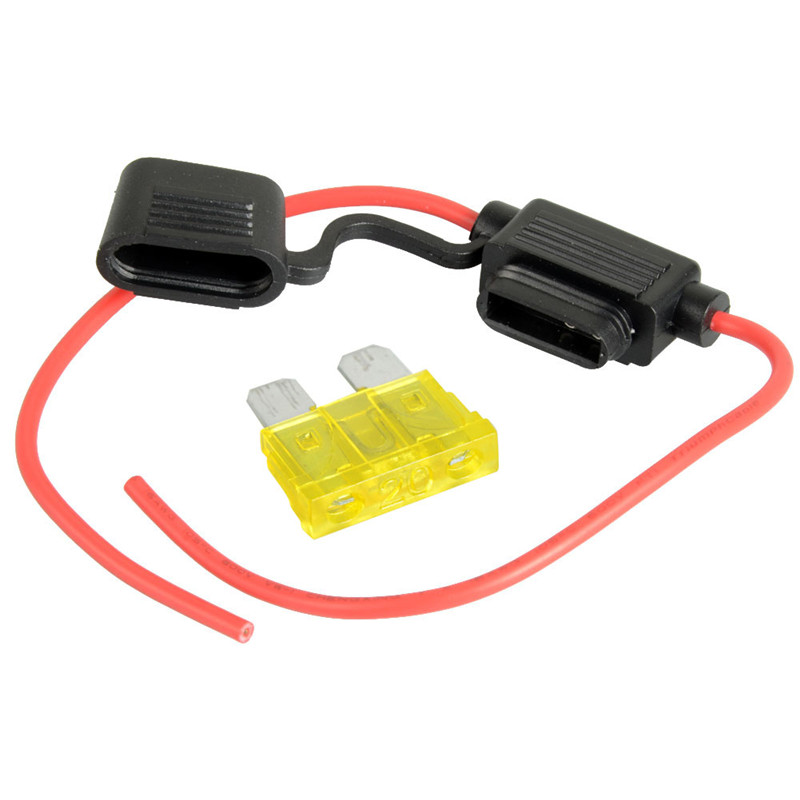14AWG Wire In-line Car Automotive Blade Fuse Holder Fuseholder 20A