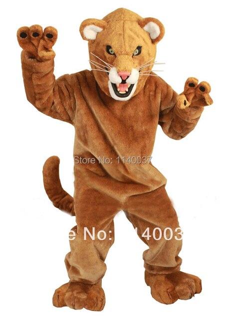 Mascot Fierce Mountain Lion Mascot Costume Plush Mascotte Mascota
