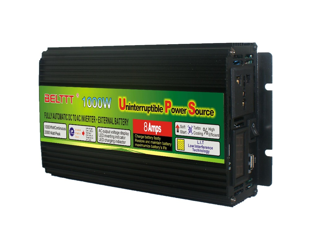 cheap price 1000w dc 12v to ac 220v  solar  inverter with ups baterry charger USB charger  and LED displaycheap price 1000w dc 12v to ac 220v  solar  inverter with ups baterry charger USB charger  and LED display