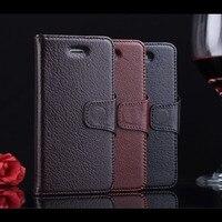 Fundas Case for iphone 5 & 5s Luxury Yak Genuine Leather Case High end Business Magnet Wallet Men Flip Coque Retro