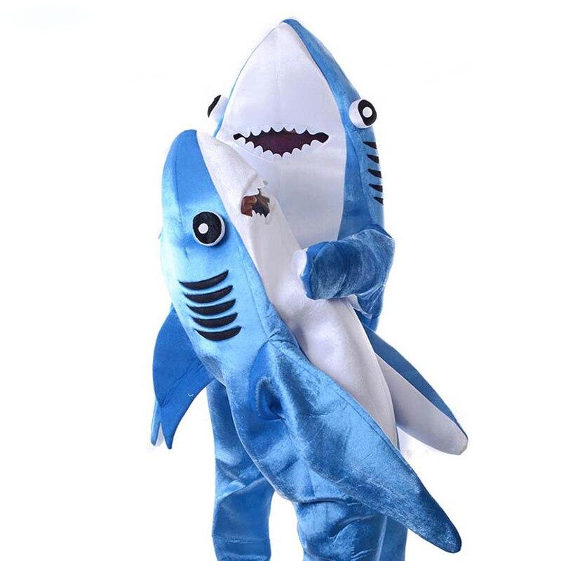 2 цвета Акула от Pixar анимационный Плёнки качество Делюкс взрослых Для мужчин синий и серый Акула для Хэллоуина удобные Косплэй костюм - 2