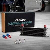 Racing Aluminium 7Row AN10 Transmission Refroidisseur D'huile Réservoir Core Tuyau Fin x2
