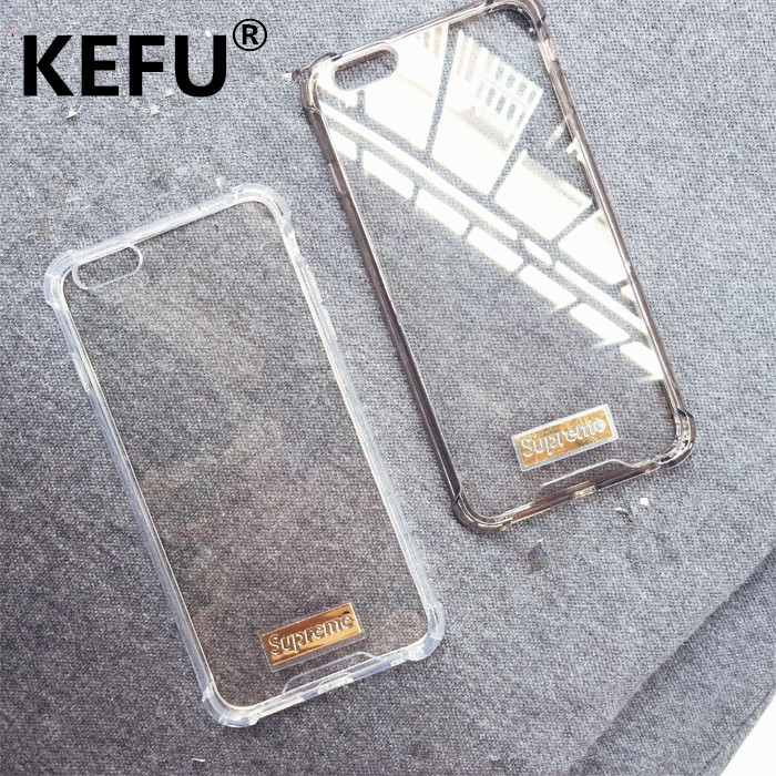 KEFU Ultra thin Fashion mobile Alphabet Suprem e For Apple iPhone 5 5S 6 7 Plus Phone Cases Accessories Simple Frosted coque
