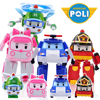 2018 New 4pcs Pack Robocar Poli Toy Transformer Robot Car Toys Poli Robocar Korea Transform Toys