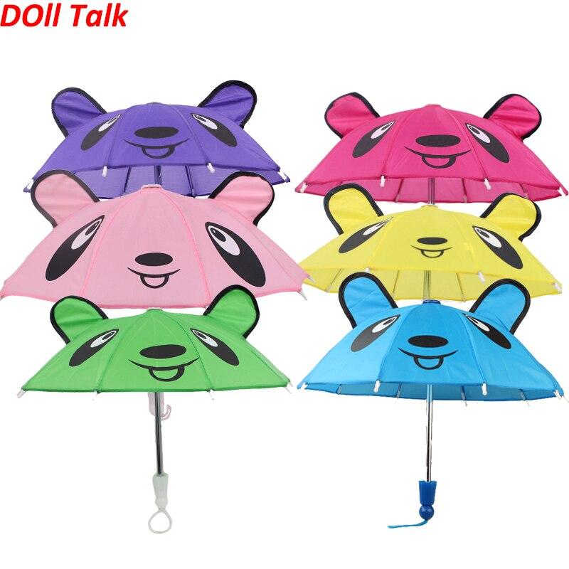 Dolltalk 18 inch American cute girl doll sun umbrella also suit for raining day doll accessories Random colour Diy Dress up(China)