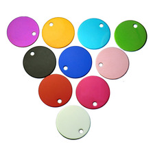 Wholesale 100Pcs Circle Dog Pet Id Tags Custom Name Address Phone No. For Dog ID Tag Round Personalized Engraving Pet ID Tags