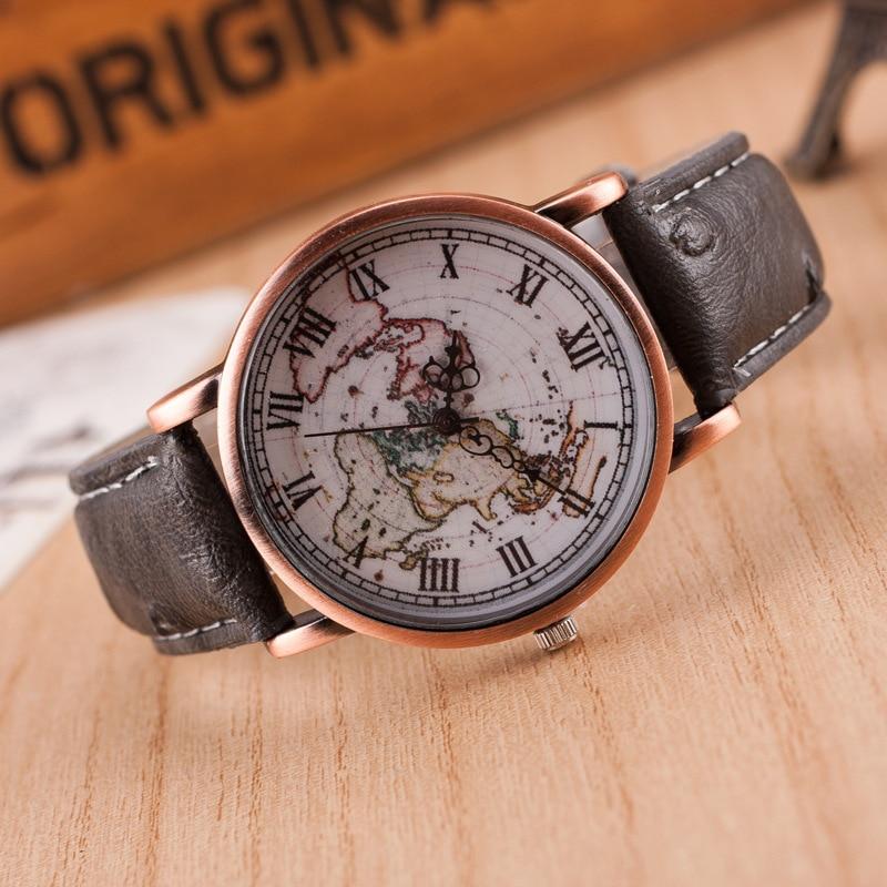 2018 New Fashion Casual Watches Women JW Brand Antique Map Dress Sport Wristwatches Ladies Roman Numerals Analog Quartz Watch