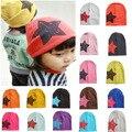 2-6Y звезда ребенка зимние шапки новорожденный мальчик в девочке cap хлопок мягкая трикотажная шапка шапочка шапки для детей