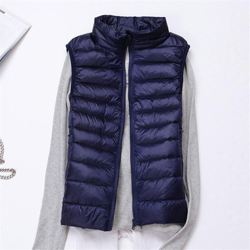 Herbst Winter Frauen Ärmellose Jacke Ultra Licht Unten Weste Damen Outwear Schlanke Weiße Ente Unten Weste Mantel Warme Weste Sf0424 Jacken & Mäntel