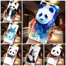 Soft Covers Watercolor Panda For Huawei Honor 5A 6A 6C 7A 7C 7X 8A 8C 8X 9 10 P8 P9 P10 P20 P30 Mini Lite Plus(China)
