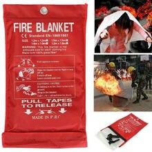 Огонь Одеяло 1x1 м аварийного безопасность, выживание пожаров Стекло закрывающийся тканевый 0,45 мм предварительно аварийного противопожарная защита укрытие огонь Одеяло