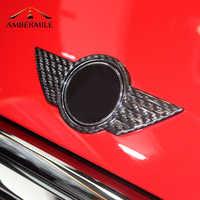 Carbon Fiber Car Logo Front Hood Badge Rear Trunk Emblems Sticker for Mini Cooper F54 F55 F56 F60 R60 R61 R55 R56 R57 Countryman