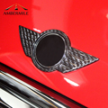 In Fibra di carbonio Auto Logo Frontale griglia di Cappa Distintivo Posteriore Tronco Emblemi Sticker per Mini Cooper F54 F55 F56 F60 R60 R61 r55 R56 R57 Countryman