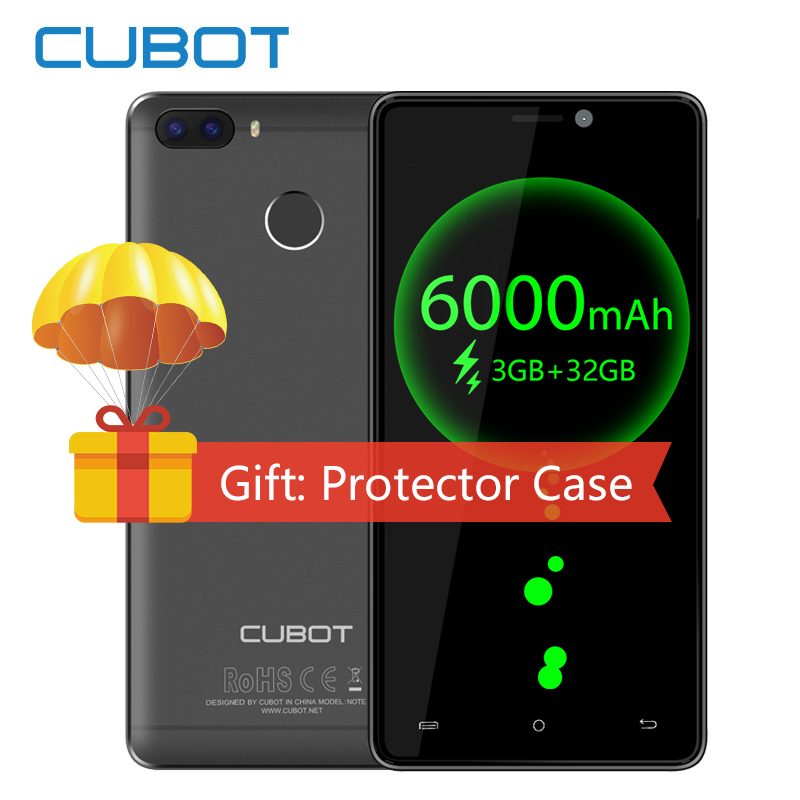 D'origine Cubot H3 6000 mah Grosse Batterie MT6737 Android 7.0 Quad Core 3 gb RAM 32 gb ROM 13.0MP D'empreintes Digitales smartphone 4g 5.0 OTG