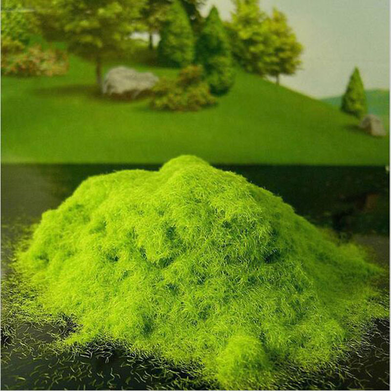Artificial grass powder sandbox game model decor micro for Faux grass for crafts