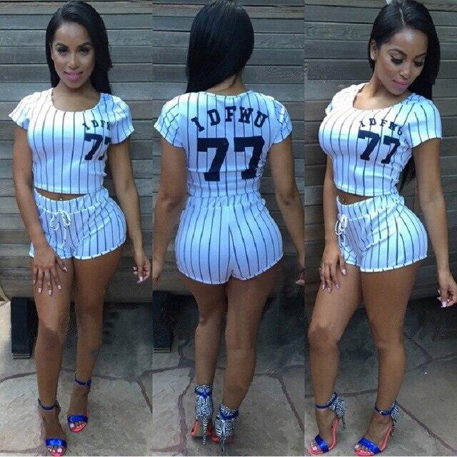 fb9693821b31 2018 Dres Dla Kobiet Baseball 2 Sztuka Set Dresy damskie Krótkie Zestawy  Letnie Garnitury