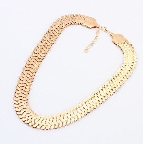 48CM 2 colors 18K Gold Filled chain Necklace Herringbone Snake Chain Mens Chain Womens Necklace Wholesale Jewelry Gift  N718