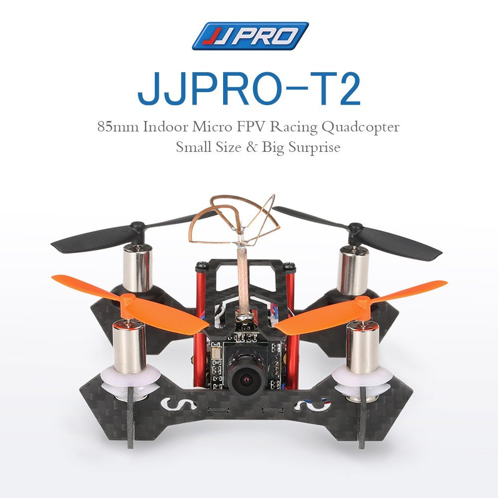 JJPRO T2 85mm Mini FPV RC Quadcopter Drone F3 Brushed Flight Controller Frsky Receiver Compatible with Frsky Taranis X9D BNF jjpro f3 evo brushed acro flight control board
