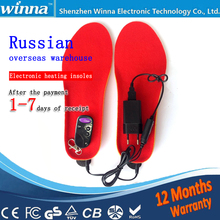 USB Electron heating Insoles FOR shoes women winter Powered Shoes accessories keep foot warm large size EUR Size 41-46 Russia