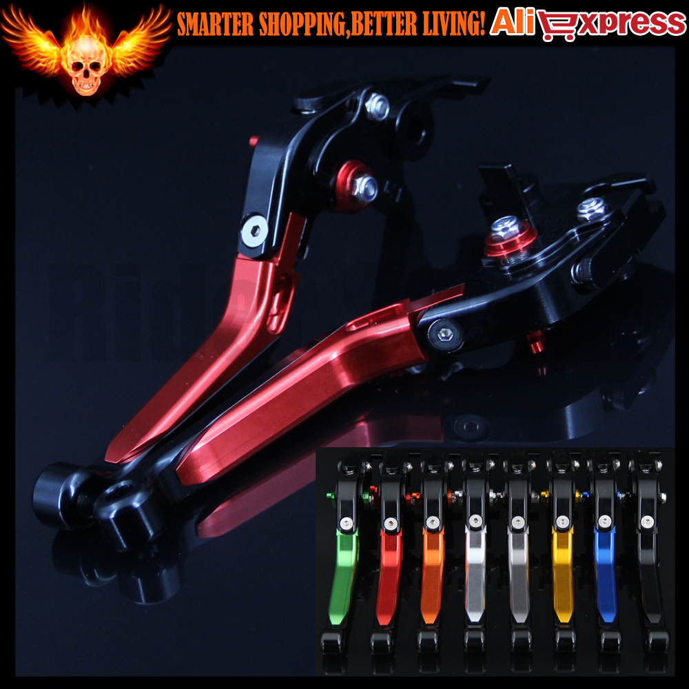 Red Adjustable CNC Motorcycle Brake Clutch Levers For Moto Guzzi V7 Classic 2008 2009 2010 2011 2012 2013 2014 2015 2016 motofans cnc clutch brake levers adjuster for moto guzzi stelvio 2008 2015 norge 1200 gt8v griso 06 07 08 09 10 11 12 13 14 15