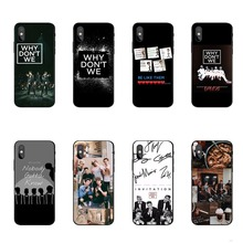цена на Why dont we WDW Silicone Back Cover Phone Cases for iPhone 5 5S SE X 6 6s Plus 7 7Plus 8 8 Plus X10 XS MAX XR