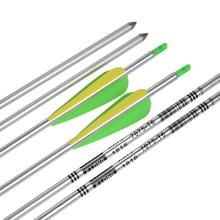 "12Pcs 1716 Shaft Aluminum Arrow 30"" Fxed Bullet Point Shoot Practice Archery Bow Outdoor Free Shipping"