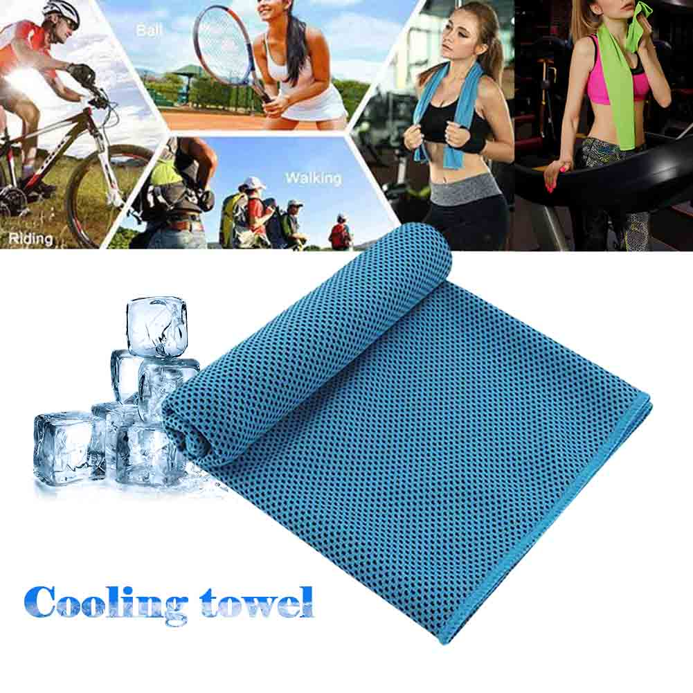 Practical Sports Ice Cold Instant Cooling Towel Running Jogging Gym Chilly Pad Sports Yoga Swimming Towels absorbent Sweat Towel towel