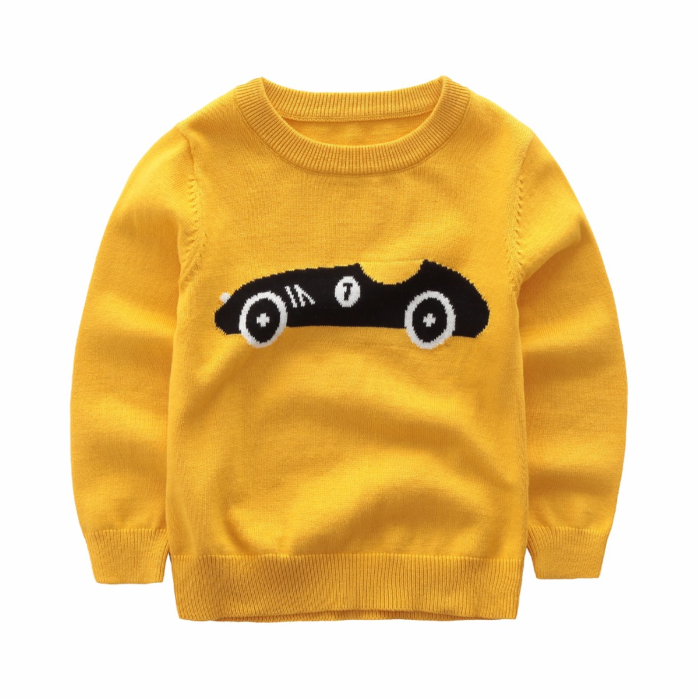 Sweater baby boy clothes winter thickened pullover kids casual Knitted sweater cartoon car pattern Leisure Sports Style children цена