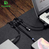 FLOVEME Cable Organizer USB Charger Cable Protector Winder Desktop Cable Management Clips Cable Holder For Earphone Headphone