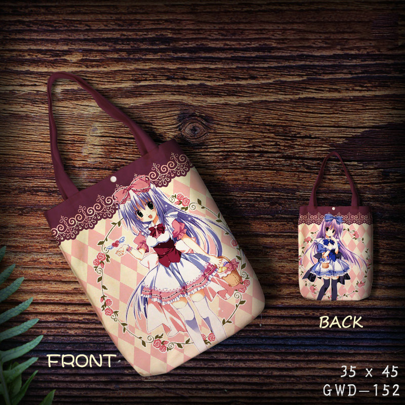2018 Top Rushed Boodschappentas Custom Canvas Shopping Bag Anime Eco Reusable Foldable Shoulder Girls Casual Wholesale Pattern