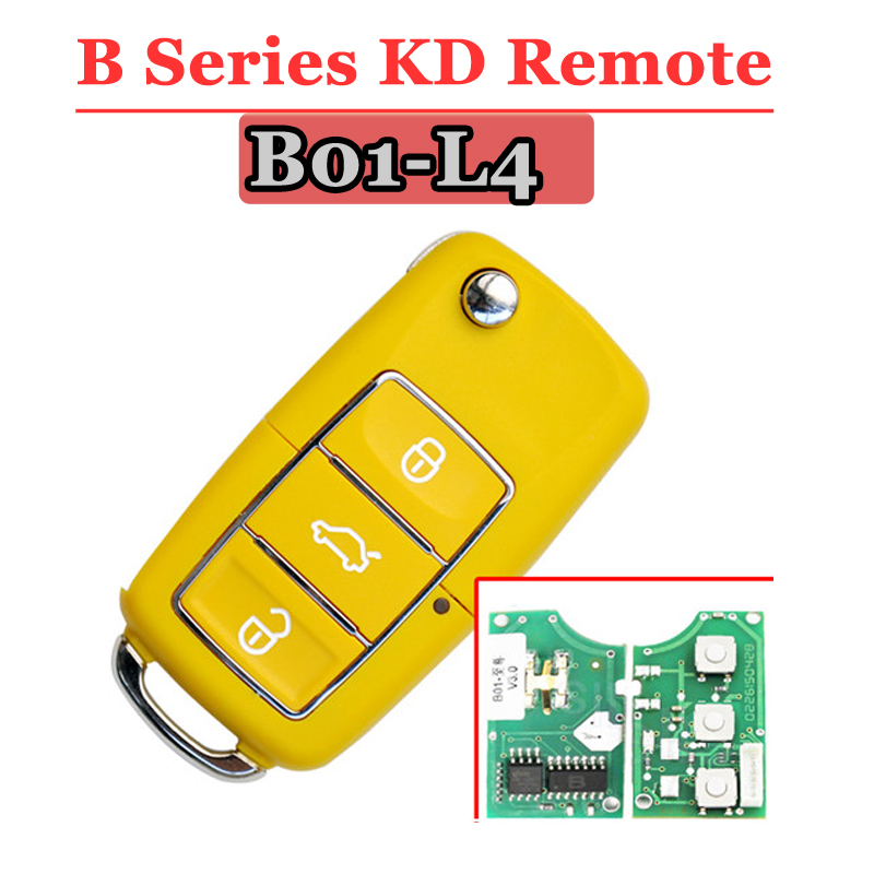 Free shipping (5 pieces)Keydiy B01L-04 Luxury 3 Button Remote key with Yellow colour for URG200/KD900/KD200 machine avr sx460 5 pieces sx460 free shipping