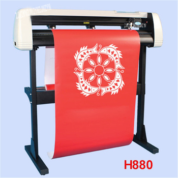 H880 Cutting Plotter With Stand Garment /Silhouette Reflective media Cuttter Machine 100W Auto-contour 780mm / s 110V/220V
