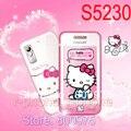 Original reformado desbloqueado samsung hello kitty s5230 s5230c teléfono móvil y un año de garantía