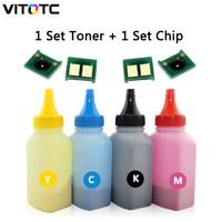 4 Color CRG329 Refill Toner Powder and 4 Toner Chip Compatible for Canon I sensys LBP7018C LBP7010C LBP7010 LBP 7010 7010C 7018C