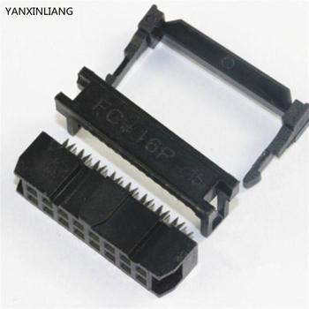 10 STKS FC-16P 2x8Pin Dual Rij Toonhoogte 2.54mm IDC Socket Connector Vrouwelijke Header 16-pin kabel socket