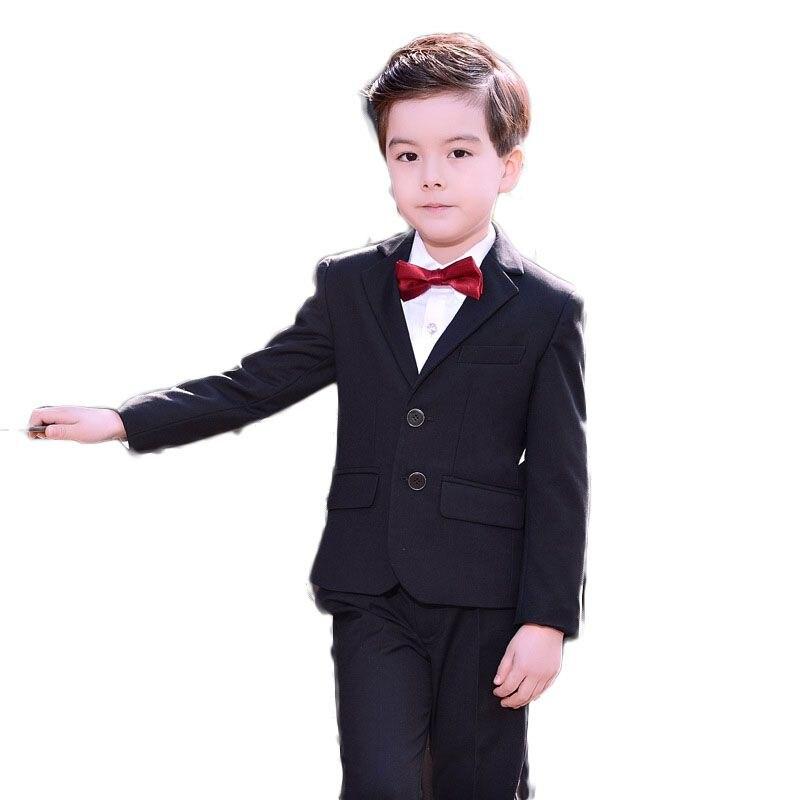 Garçons 5 pièces/ensemble mariages costumes bébé coton Blazer + gilet + pantalon + chemise + noeud papillon enfants vêtements ensembles enfants costumes formels Costume G183