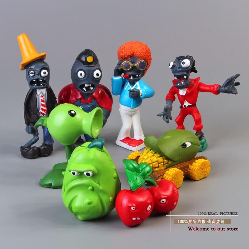 ФОТО free shipping pvz plants vs. zombies toys peashooter cherry bomb conehead zombie pvc action figures dolls 8pcs/set anpz001