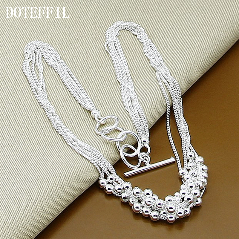 Hot Sales 925 Sterling Silver Jewelry Silver Wedding Set Fashion Small Grapes Fancy Necklace Silver Factory Outlet