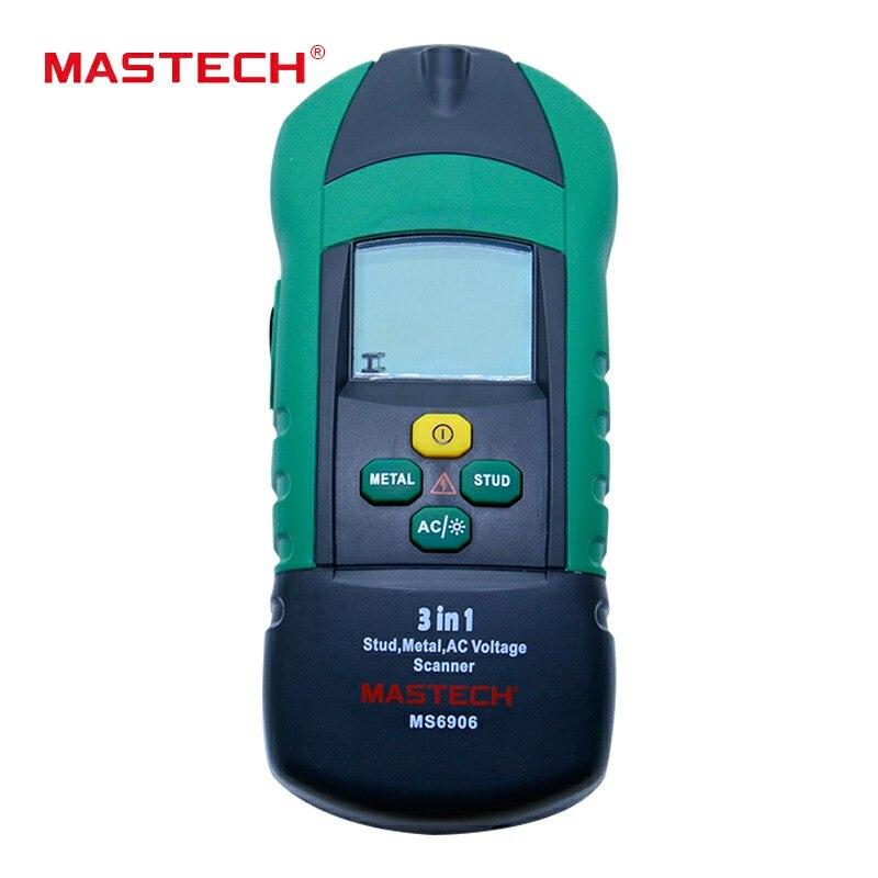 MASTECH MS6906 3 en 1 multi-fonction goujon métal AC tension Scanner détecteur testeur épaisseur jauge w/NCV testeur + détecteur de bois